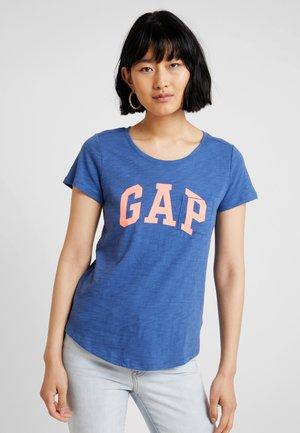 EASY TEE - Print T-shirt - chrome blue