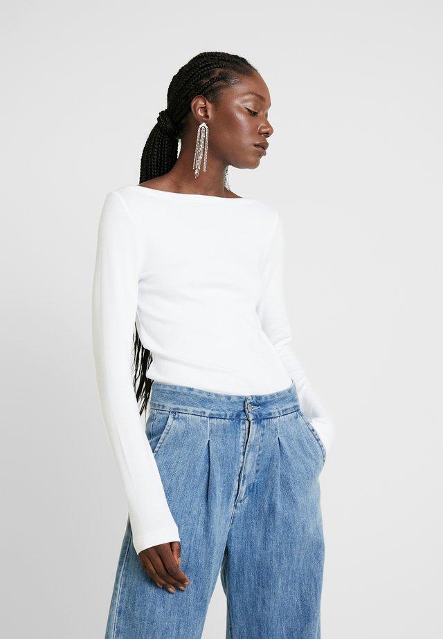 BOAT - Bluzka z długim rękawem - optic white