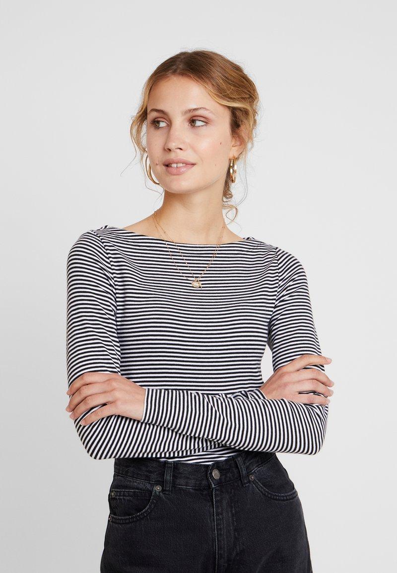 GAP - BOAT - Long sleeved top - black