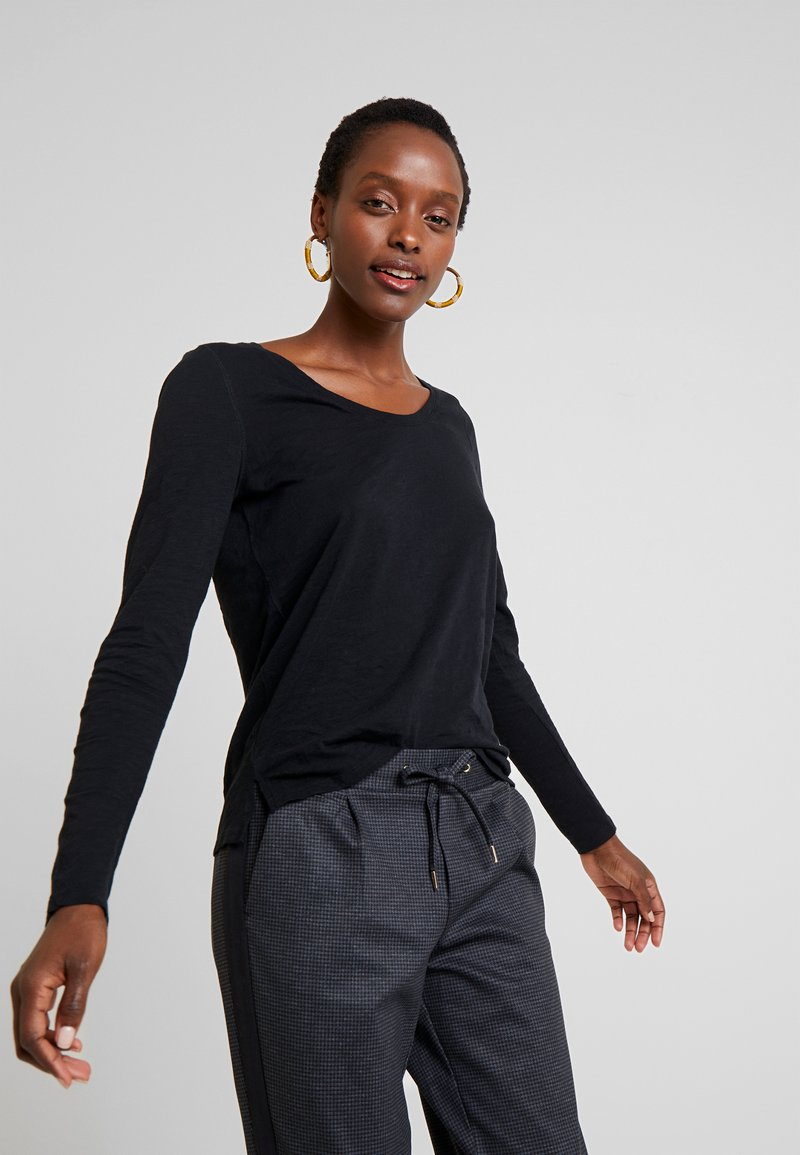 GAP - SLUB - Langærmede T-shirts - true black