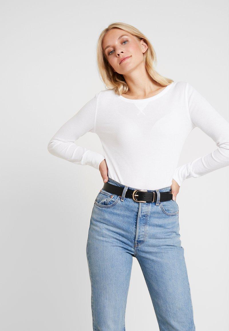 GAP - WAFFLE TEE - Long sleeved top - white