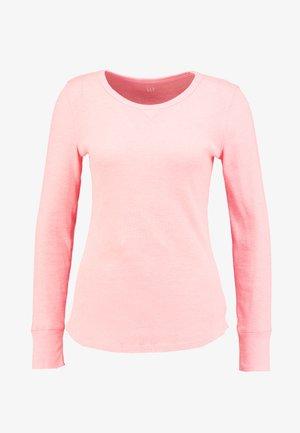WAFFLE TEE - Long sleeved top - neon coral sprint