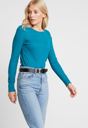 WAFFLE TEE - T-shirt à manches longues - truly teal