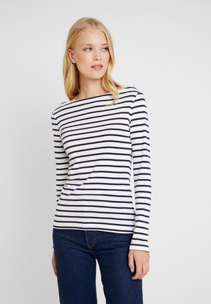 BOAT - Long sleeved top - navy/white