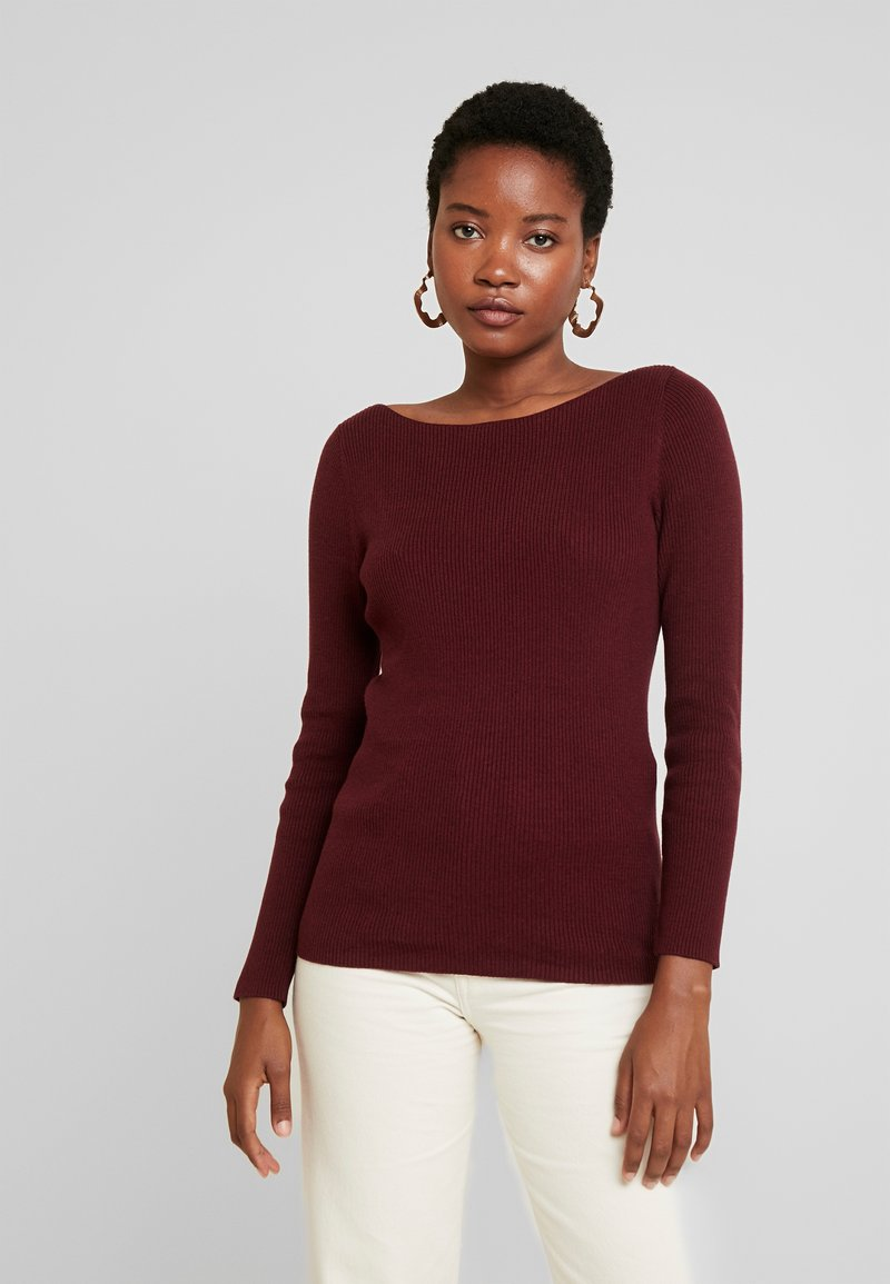 GAP - BOATNECK - Jumper - burgundy
