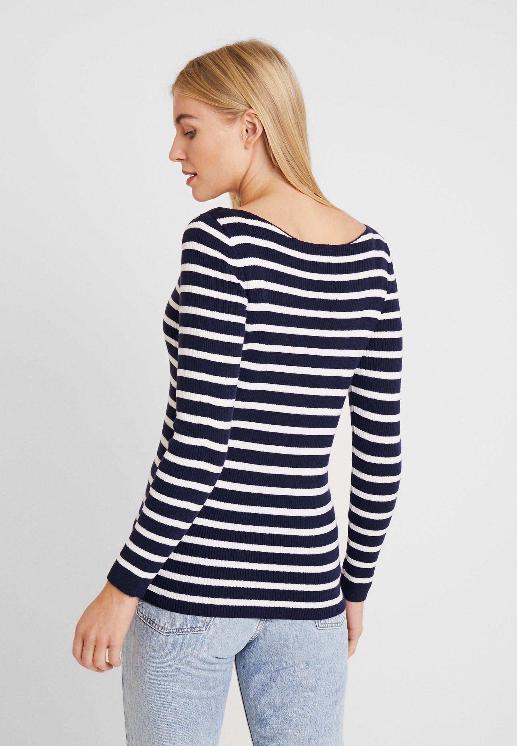 GAP BOATNECK - Sweter - blue/white