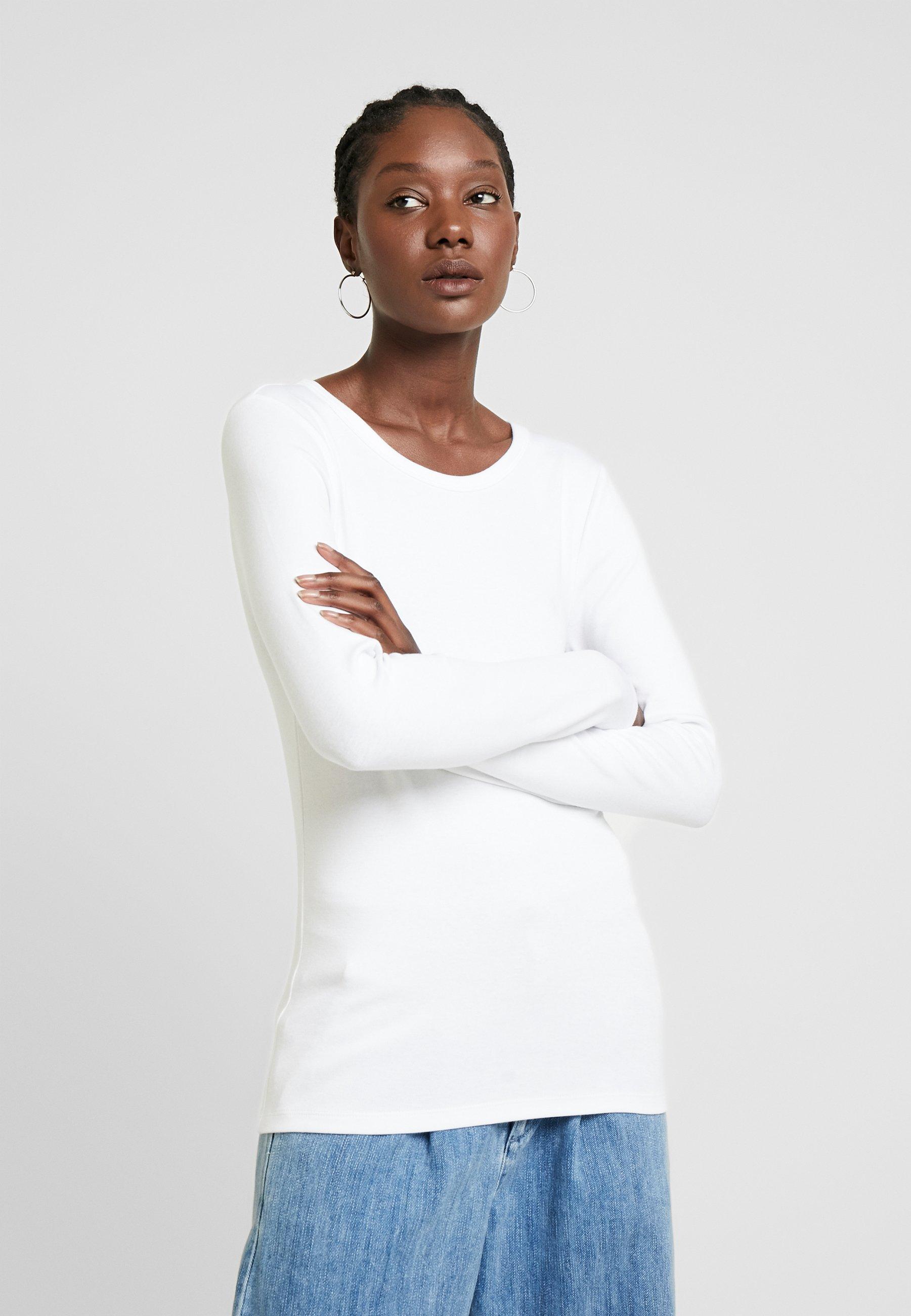 GAP CREW - Bluzka z długim rękawem - optic white