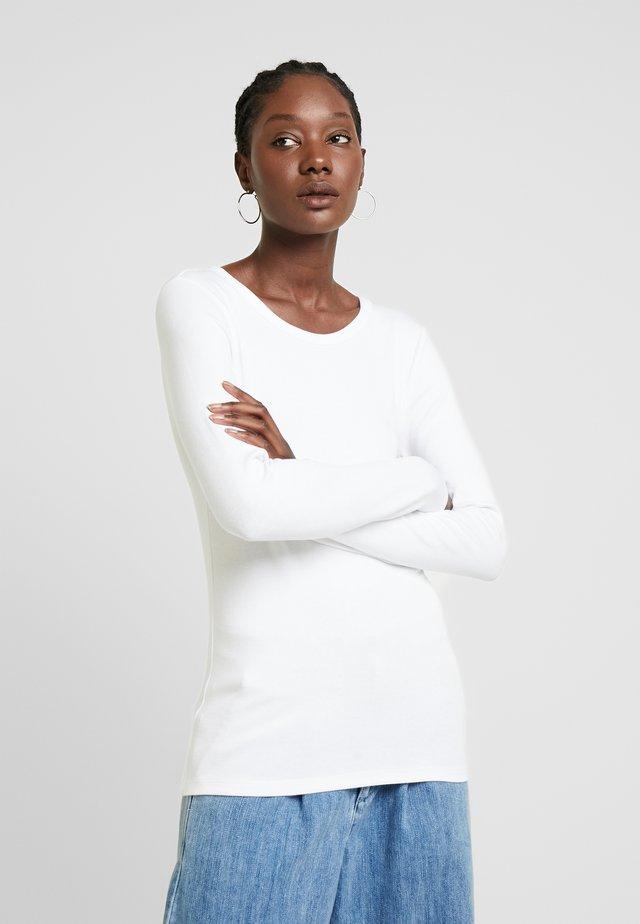CREW - Long sleeved top - optic white