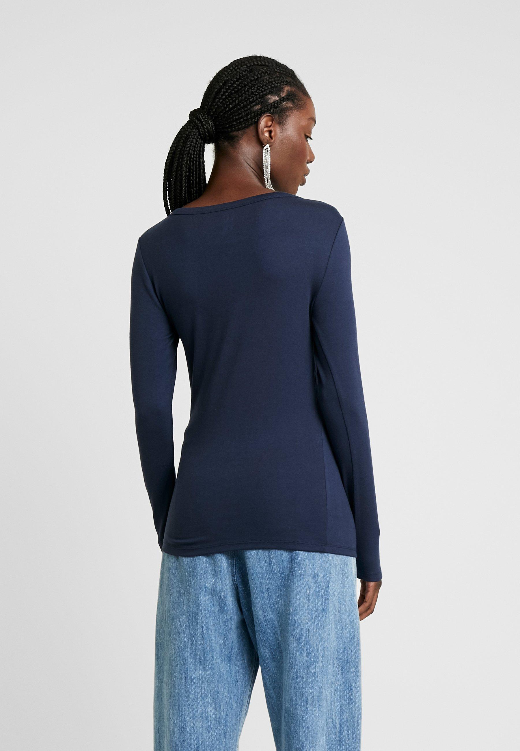 à longues manches shirt GAP true CREWT indigo XOuPiwkZT