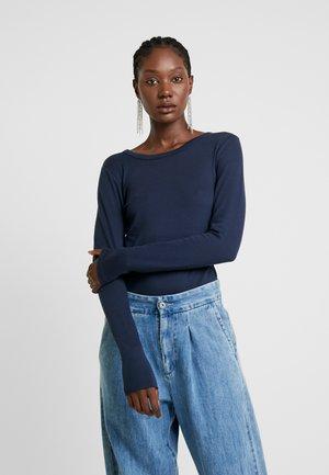 CREW - T-shirt à manches longues - true indigo