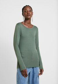 GAP - CREW - Long sleeved top - cool olive - 0