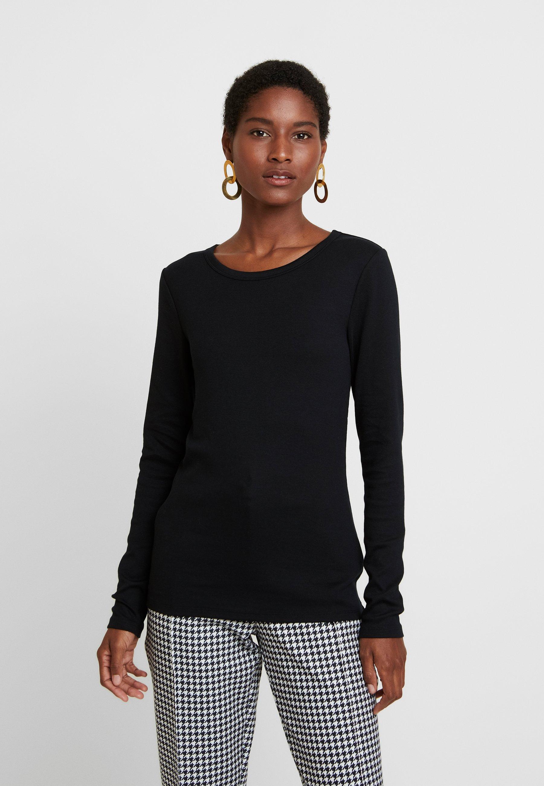 GAP CREW - Bluzka z długim rękawem - true black