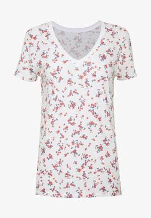 T-shirts med print - milk/red