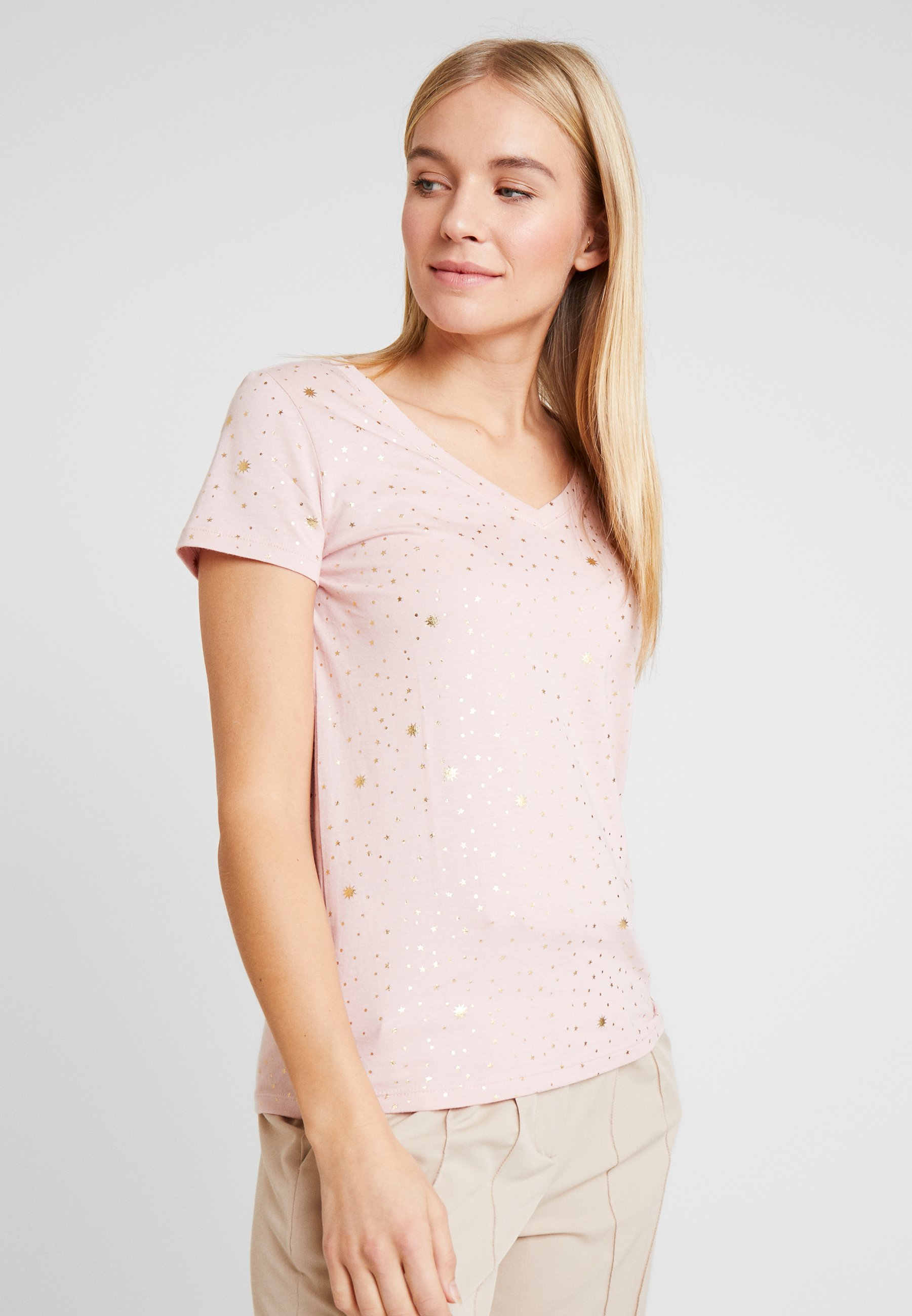 GAP T-shirts med print - pink foil stars