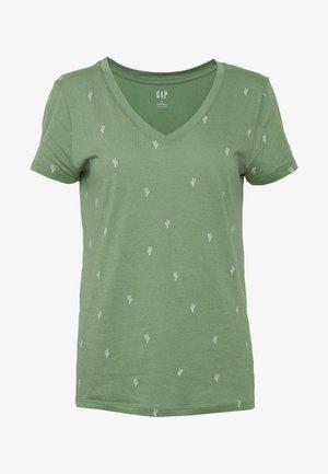 T-shirt print - olive cactus