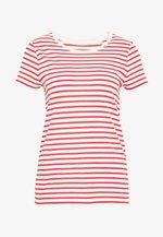 CREW - Print T-shirt - red/white