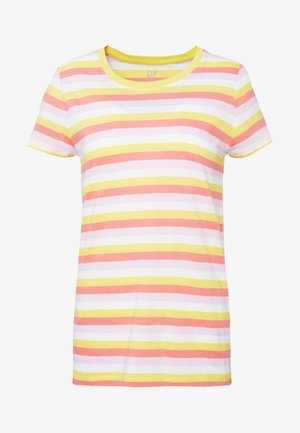 CREW - T-shirt print - yellow/pink/multi strp