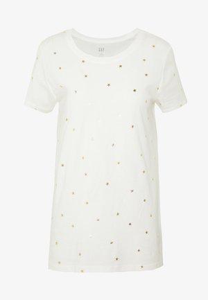 FAV CREW - T-shirt med print - milk