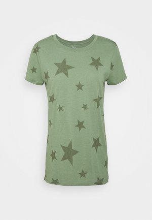 FAV CREW - Print T-shirt - olive