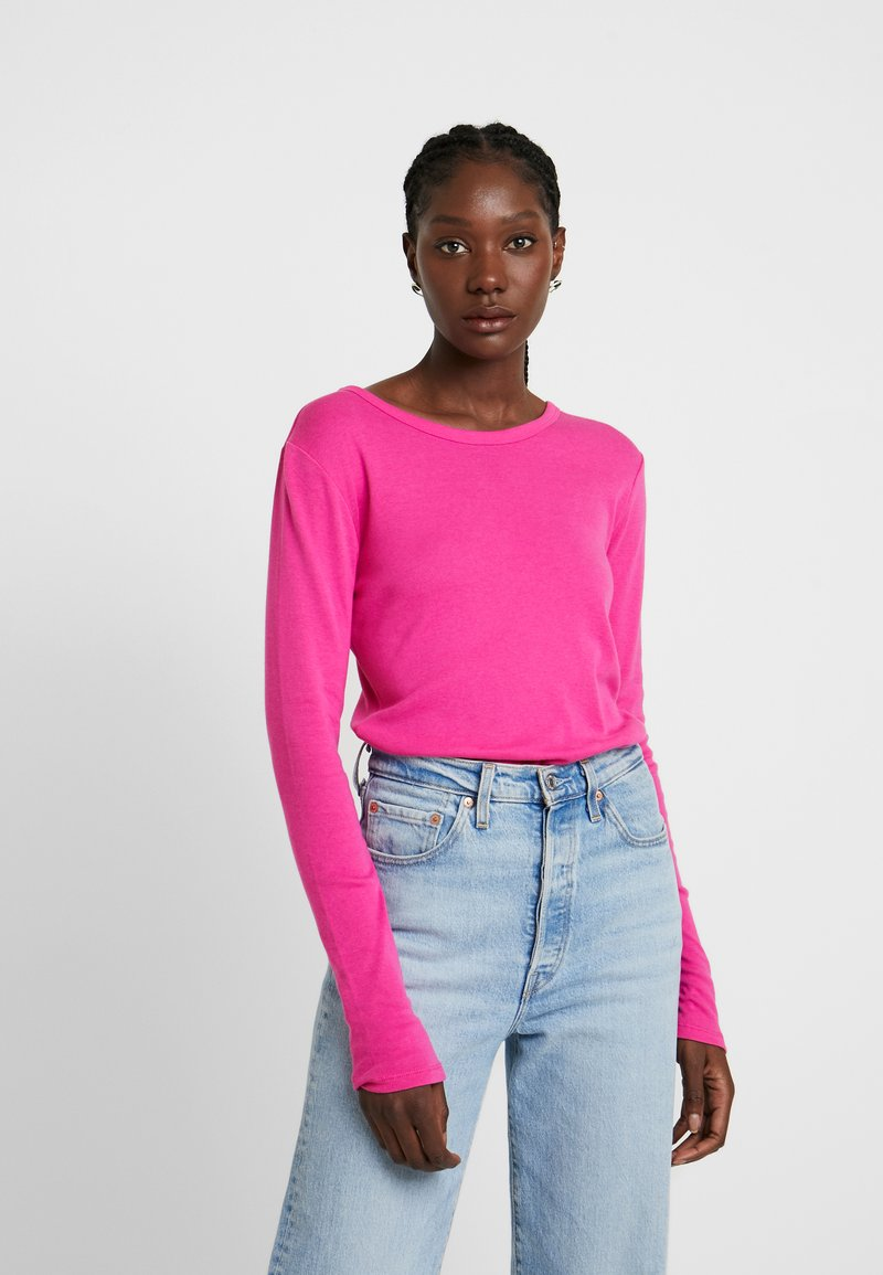 GAP - CREW - Bluzka z długim rękawem - super pink