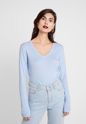 Long sleeved top - blue crystal