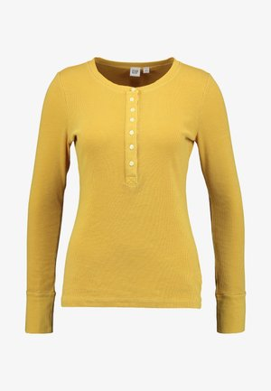 HENLEY - Long sleeved top - mustard