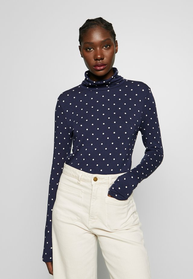 PRINTED - Long sleeved top - dark blue