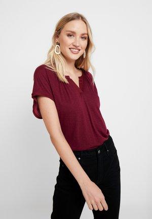 NOTCH - Print T-shirt - burgundy