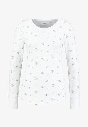WAFFLE TEE - Long sleeved top - milk
