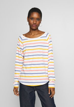 EASY CREW - Topper langermet - multi stripe milk