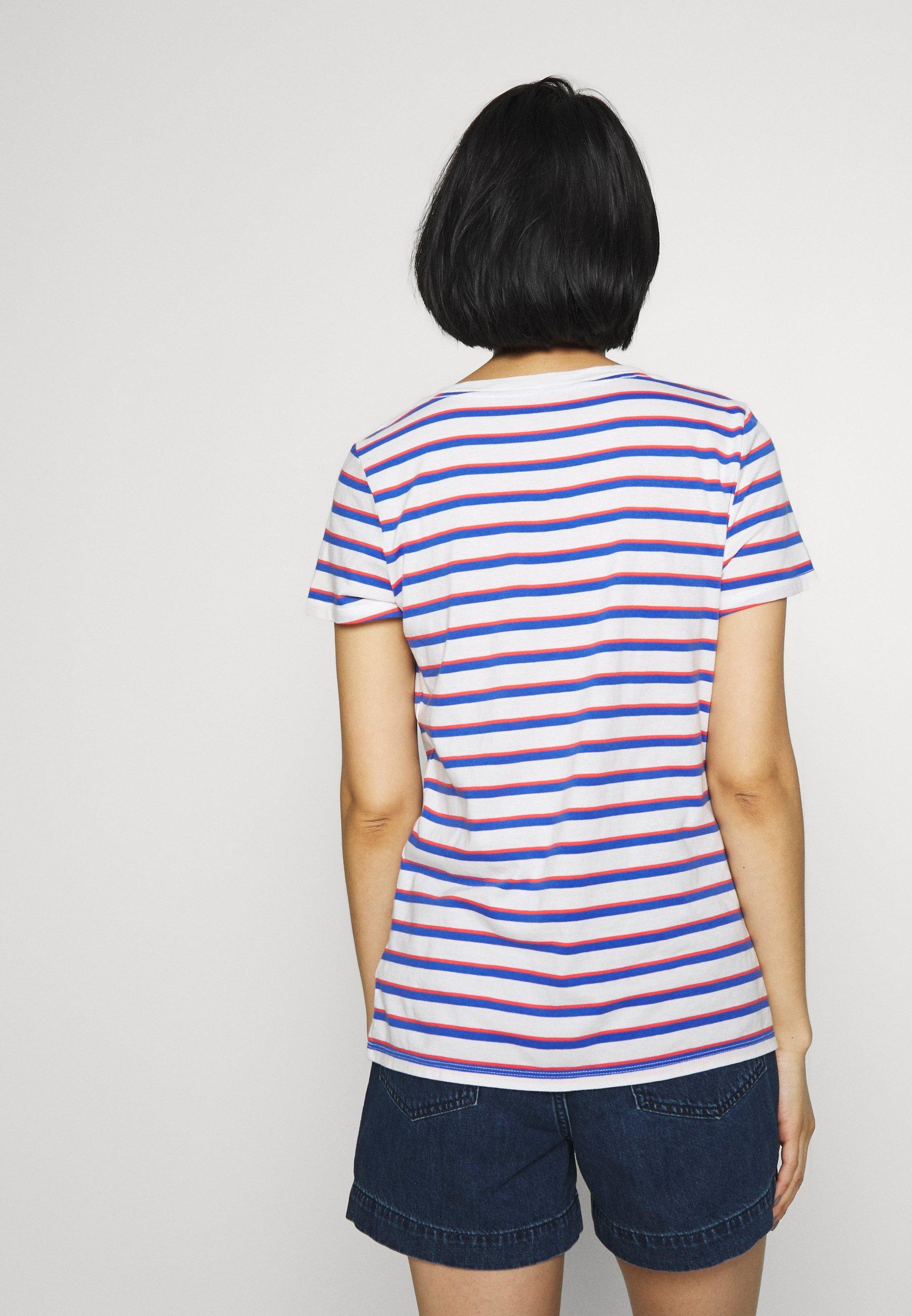 GAP T-shirt z nadrukiem - blue stripe combo