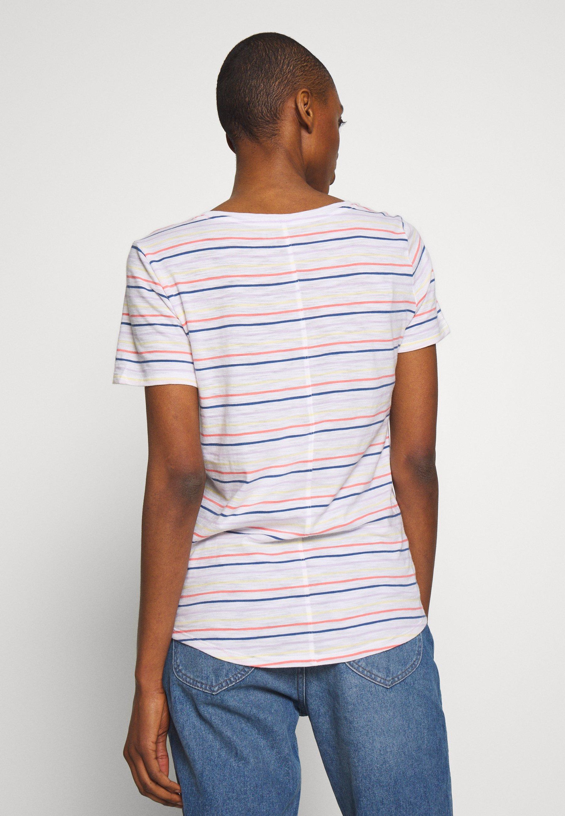 GAP EASY SCOOP - T-shirts med print - multi stripe milk
