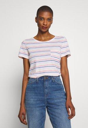 EASY SCOOP - Print T-shirt - multi stripe milk