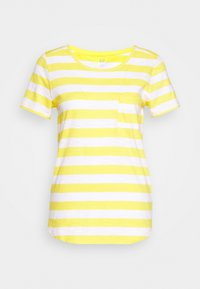 GAP - EASY SCOOP - T-shirts med print - yellow/white - 0