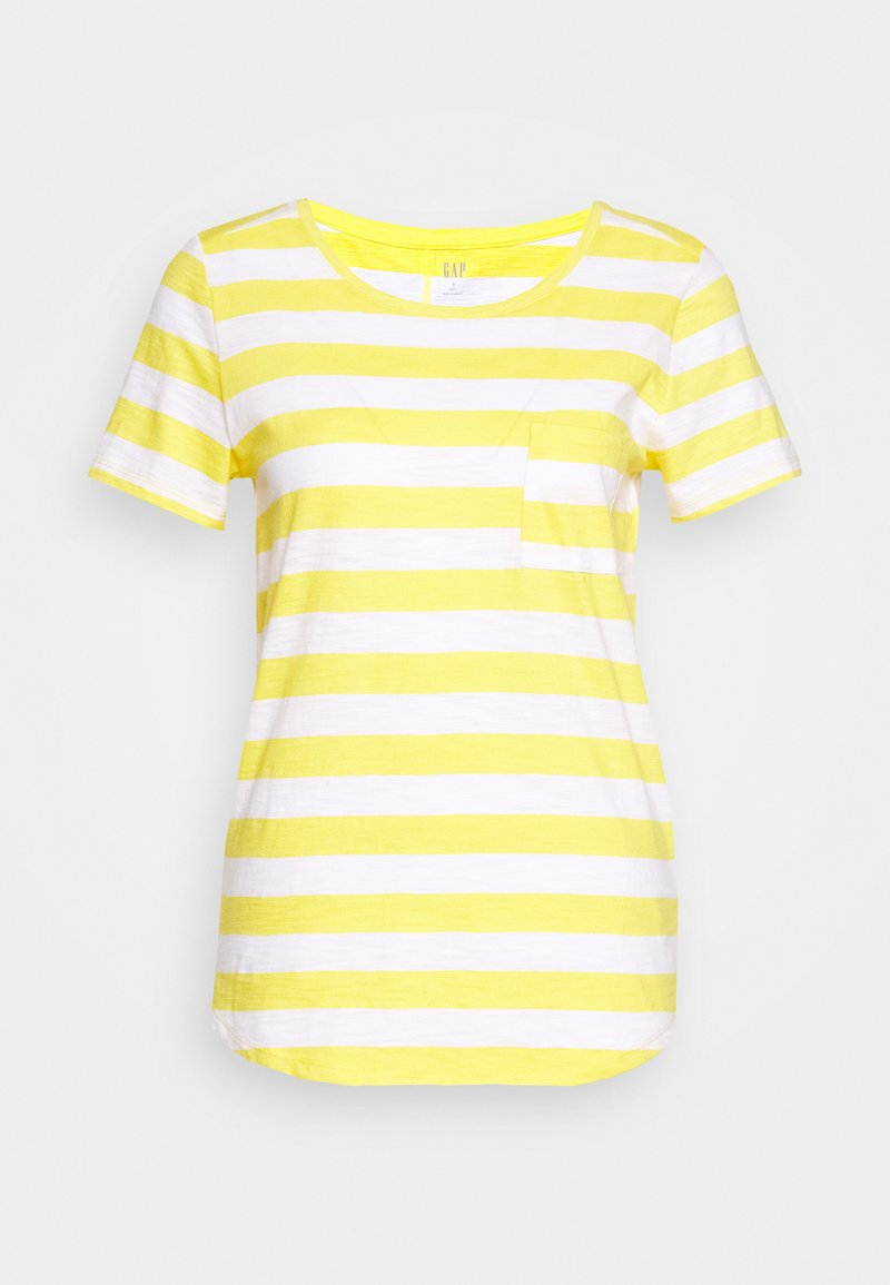 GAP - EASY SCOOP - T-shirts med print - yellow/white