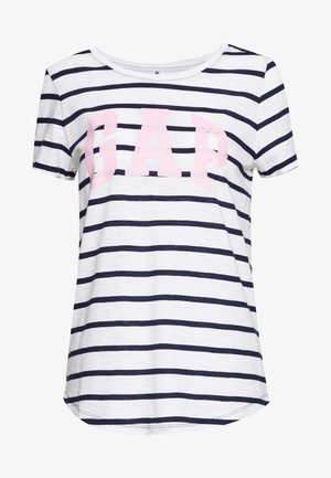 EASY SCOOP - T-shirts med print - navy/white