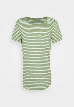 EASY SCOOP - T-shirts med print - olive/white