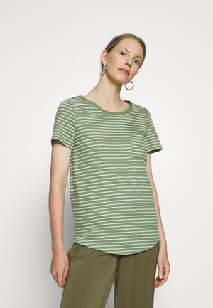 EASY SCOOP - Print T-shirt - olive/white