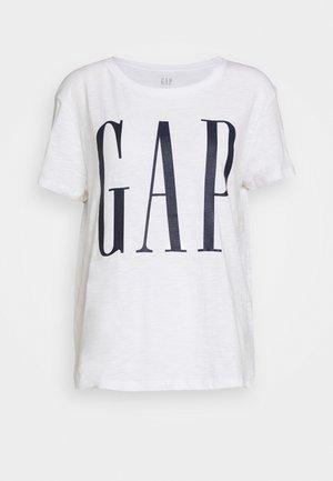 EASY TEE LOGO - T-shirt z nadrukiem - white