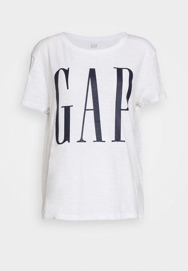 EASY TEE LOGO - Print T-shirt - white