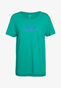 GAP - EASY TEE LOGO - T-shirt con stampa - dynasty green - 0