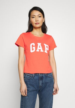 TEE - T-shirt z nadrukiem - fire coral