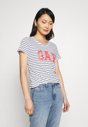 TEE FASH - T-shirts med print - navy/white