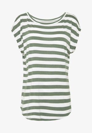 LUXE  - T-Shirt print - olive white str