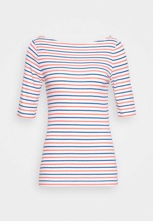Print T-shirt - navy/red/white