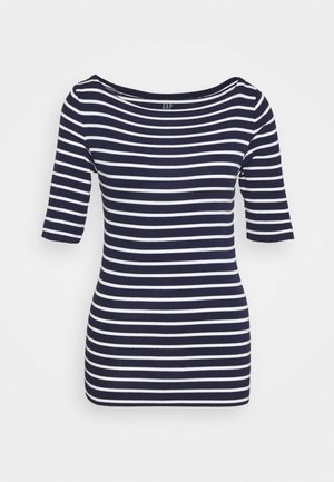 T-shirt imprimé - navy/white