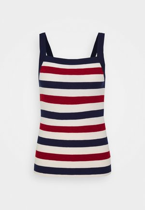 TANK - Top - red stripe combo