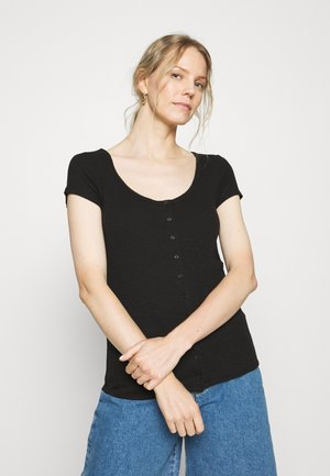 SCOOP CARDI - T-shirt con stampa - true black