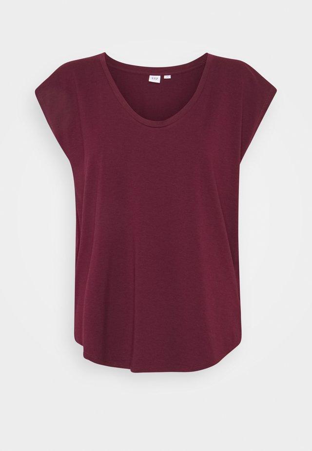 SCOOP - T-Shirt basic - ruby wine