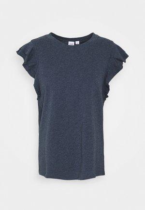 RUFFLE - Print T-shirt - navy heather